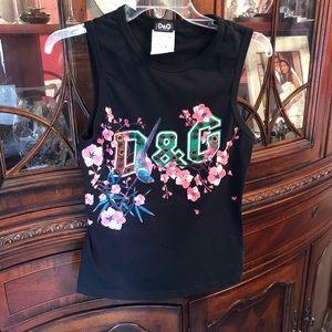 D&G Dolce & Gabbana small black sleeveless shirt